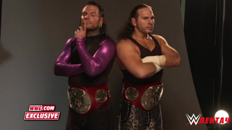 Фотосессия Командных Чемпионов Raw - The Hardy Boys