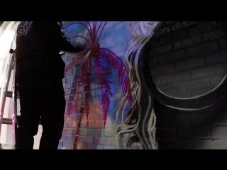 Lady Gaga's Coachella Street art