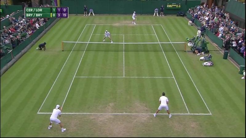 Bob Bryan - Mike Bryan vs Inigo Cervantes Huegun - Paolo Lorenzi (2016 Wimbledon - 1st Round)