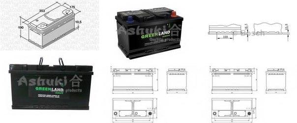 Стартерная аккумуляторная батарея; Стартерная аккумуляторная батарея для BENTLEY FLYING SPUR