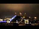 Ночной Питер на Неве разводка мостов