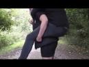 Forest piggyback ride on ponygirl