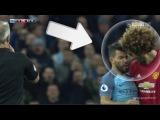 FELLAINI Headbutt Aguero and gets RED CARD Man City 0-0 Man United