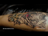 Neotraditional Tiger Tattoo Time lapse - Seth Holmes