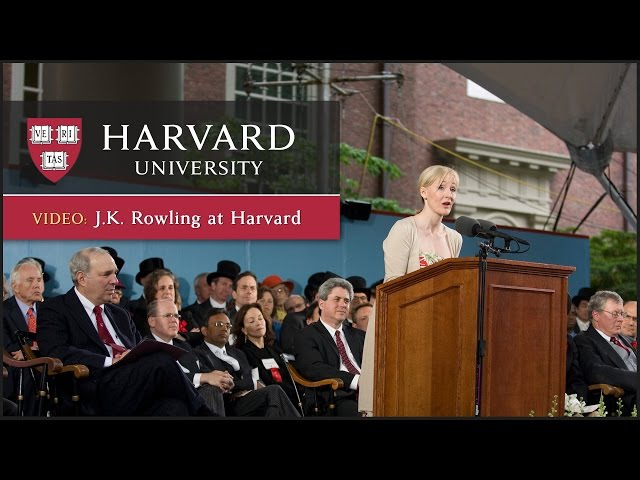 J.K. Rowling Harvard Commencement Speech | Harvard University Commencement 2008