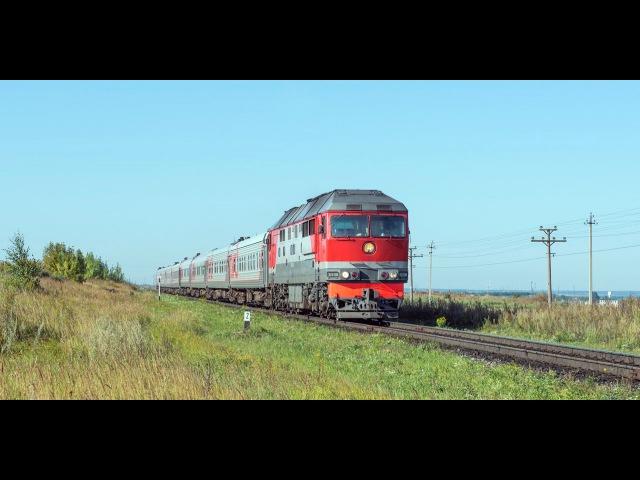 Тепловоз ТЭП70-0566 с поездом №112/111 Круглое Поле - Москва
