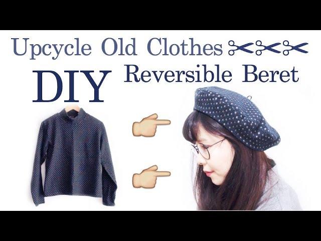 Refashion DIY Reversible Beret リメイク ✂️ ベレー帽の作り方 / Sewing Tutorial | madebyaya