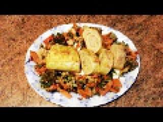 Сырно-мясной рулет. Вкусный и простой ужин