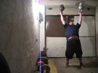 The heaviest bottoms up double kettlebells press ever - 93kg. Парный жим гирь вверх дном-93кг
