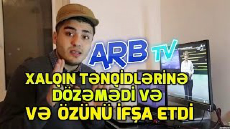 ARB-Tv Tənqidlərə dözəmədi və Özünü İfşa etdi. Utanın