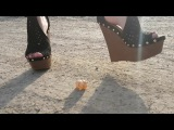 Crush shoes high heel wedges empty snail !
