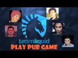Miracle with Team Liquid VS other players in pub  Best party game in Dota 2