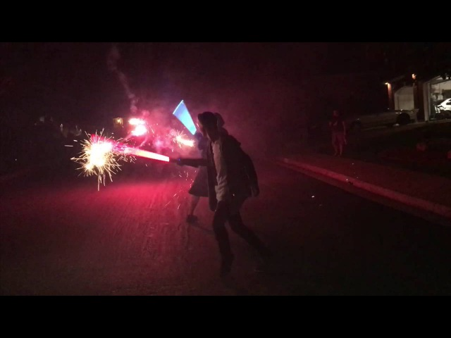 WeeklyChallenge1 - 360 roman candle shots vs 2 idiots with lightsabers