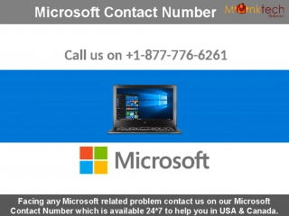 Dial Microsoft Number 1-877-776-6261 for instant help