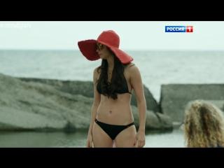 На пляже в бикини - Настасья Самбурская в сериале
