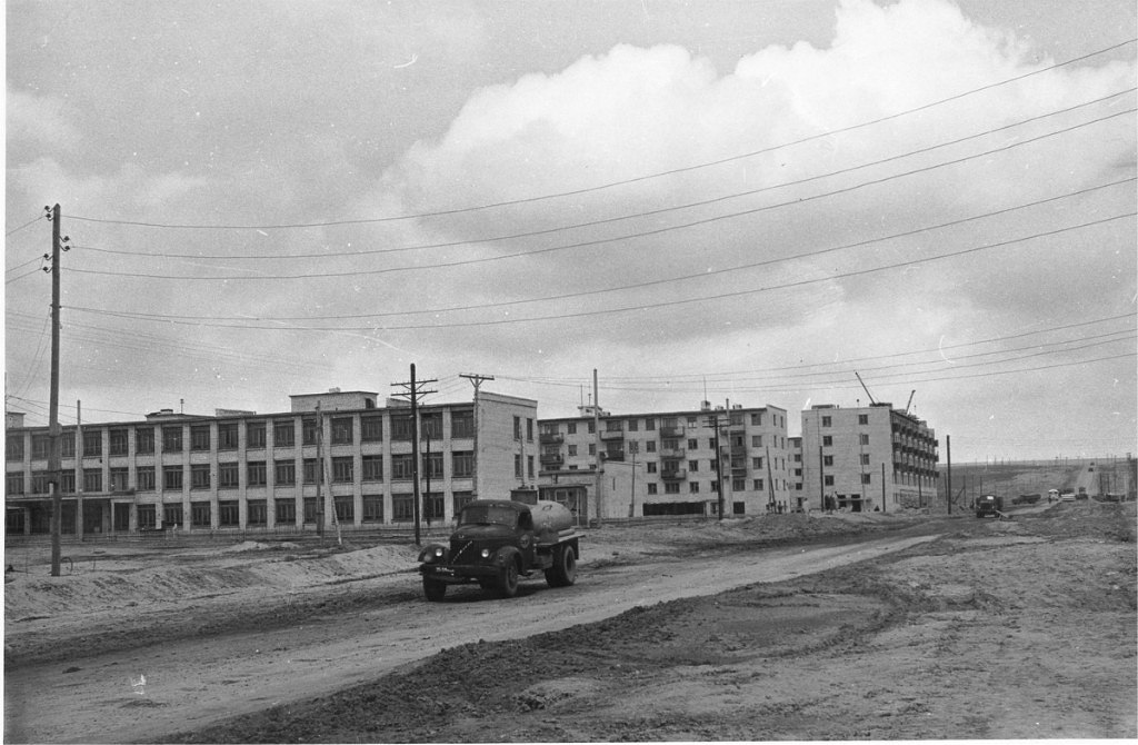 Застройка 1-го микрорайона. 1965 год.
