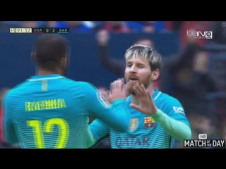 Lionel Messi Amazing Second Goal - Osasuna vs Barcelona 0-3 - La Liga 10-12-2016