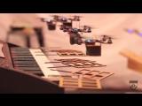Летающий оркестр квадрокоптеров исполнил мелодию из Бондианы