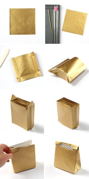 Подарочный пакетик мастер класс