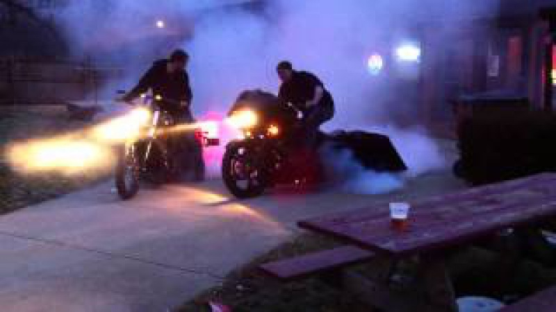 How to do a Bad Ass burnout on a HARLEY