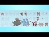 Веселая азбука Смешной мультик Обучающее видео для детей