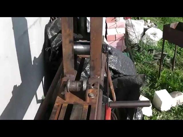 Самодельный трубогиб- конструкция без цепей и подшипников