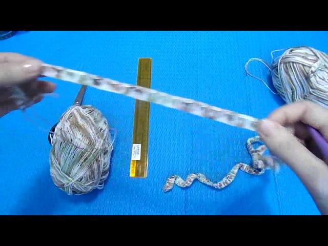 Вязание крючком. Мастер класс - Снуд на линейке. Перуанское вязание. 1-часть