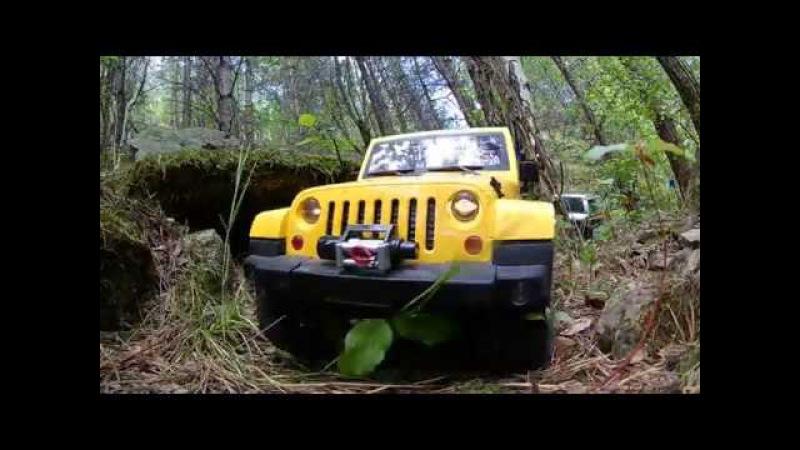 HG p40* Jeep Wrangler JK Lifetime test in difficult terrain EKEN H8R