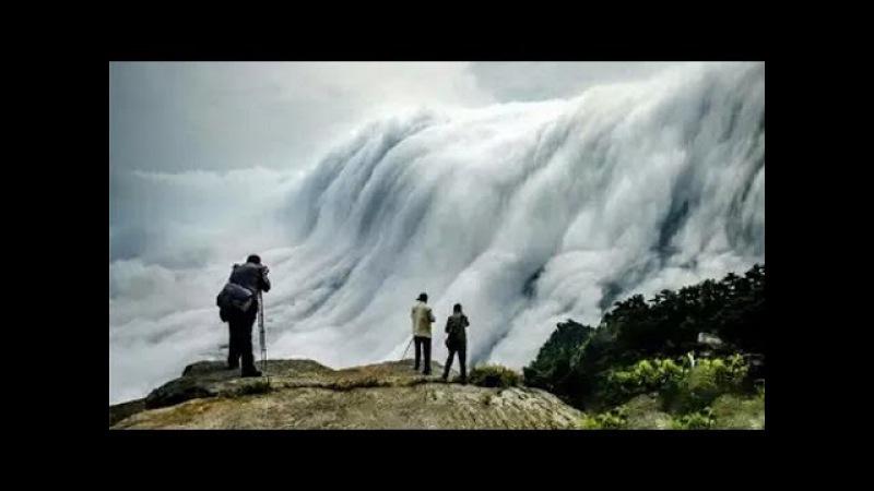 Удивительное природное явление: Водопад из облаков в горах Лушань