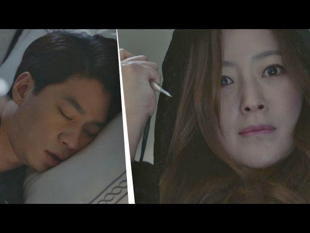 (서늘) 한밤중, 잠든 정상훈 향해 송곳으로 찌르는 김희선