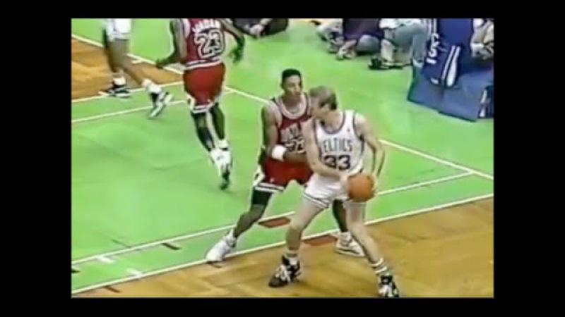 Scottie Pippen Defense on Larry Bird - 1990/91 Season