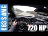 POV 720 HP Mercedes C63 S AMG 4.0 V8 BiTurbo GAD Motors FAST! Autobahn Acceleration