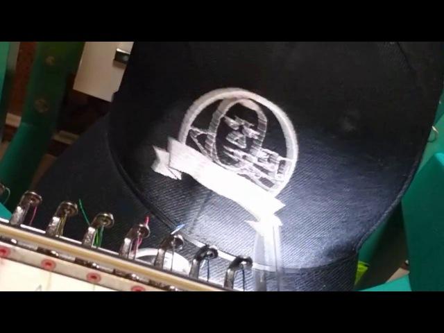 Вышывка на Snapback логотипа канала Vitaly_Dernovoy_Vape