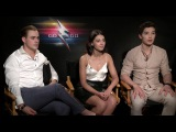 Power Rangers Movie Interview Dacre Montgomery, Naomi Scott, and Ludi Lin