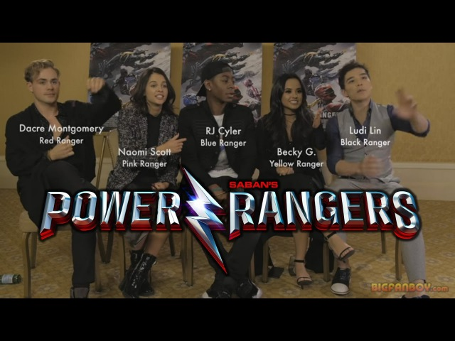 POWER RANGERS interview with cast - Dacre Montgomery, Naomi Scott, RJ Cyler, Becky G Ludi Lin