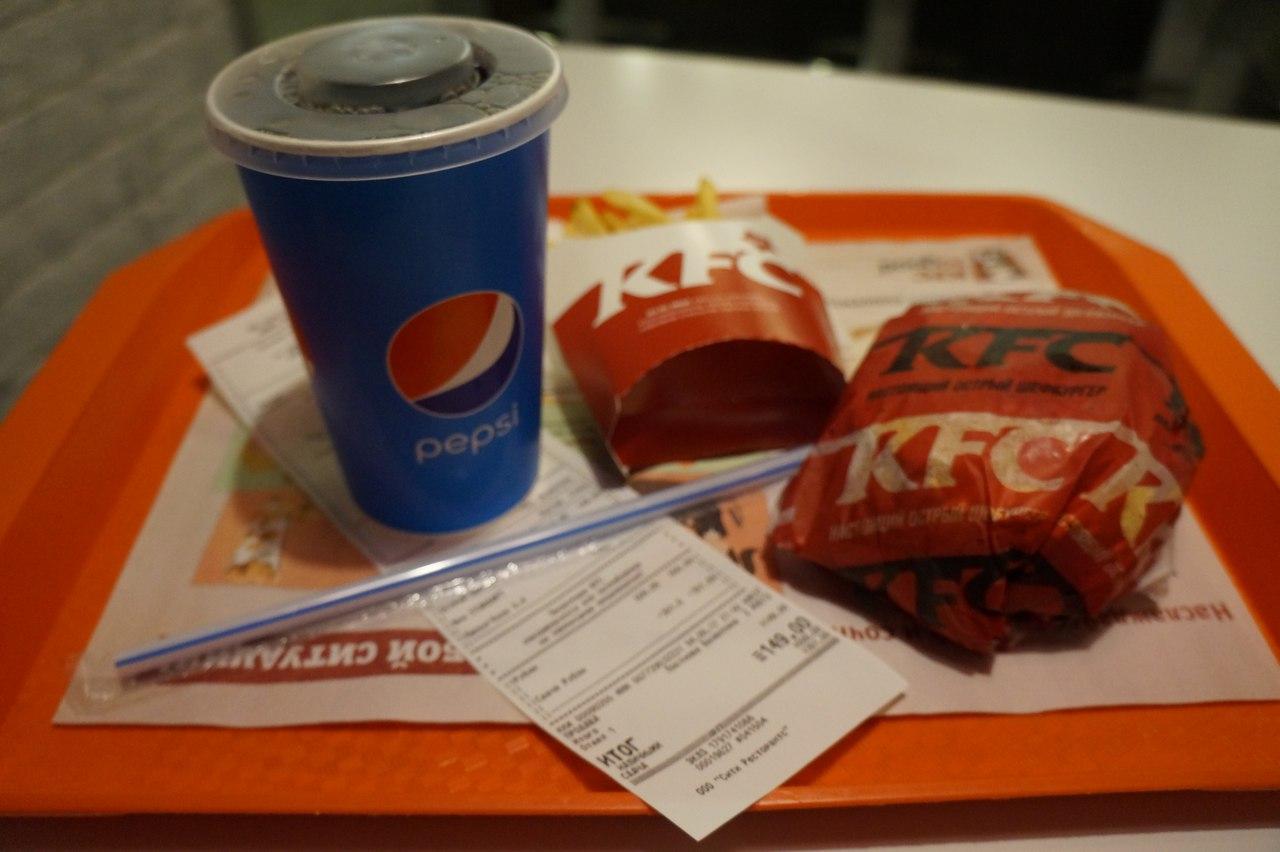 Шеф-бургер в KFC - хотели обмануть?