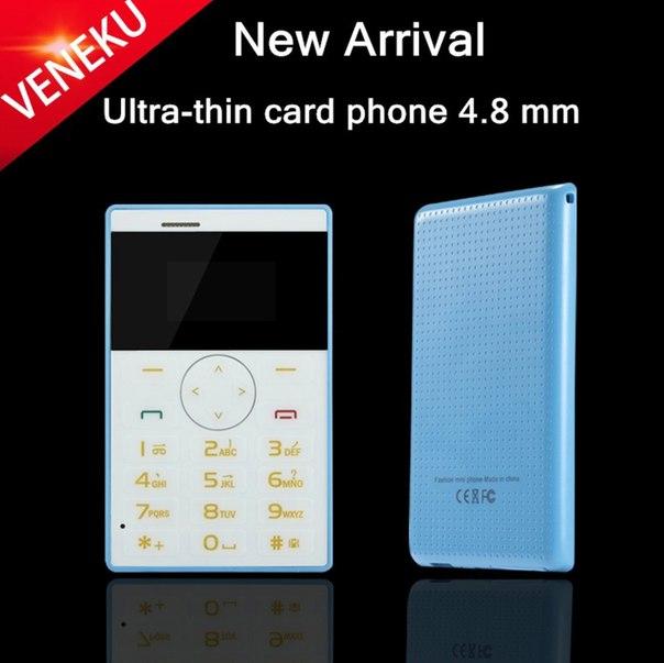 Один из самых маленьких телефонов в мире! Телефон кредитка или