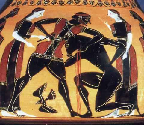 Тезей надвива Минотавъра