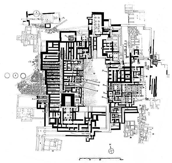 Карта на двореца на цар Минос