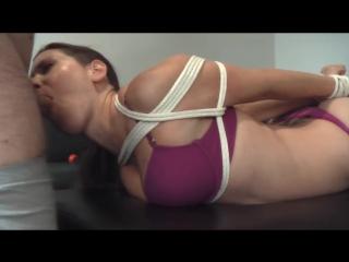 Tina Hogtied Blowjob -