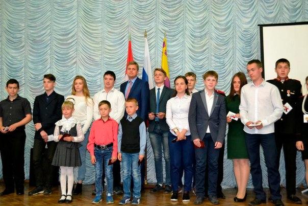 Глава города вручил школьникам золотые знаки отличия ГТО