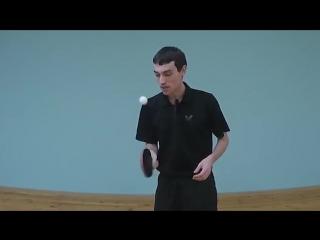 УПРАЖНЕНИЯ НАСТОЛЬНОГО ТЕННИСА для развития чувства мяча (Жонглирование в настол