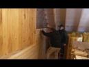 Монтаж вагонки имитации бруса пневмопистолетом