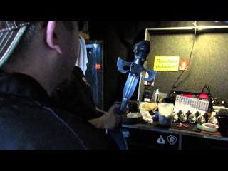 Backstage Gene Simmons Bass Tech - Torch Prep Hartford CT 8/10/14