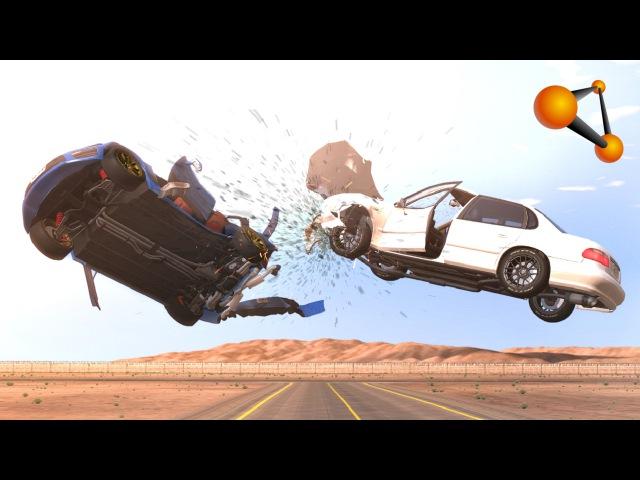 BeamNG.Drive - Mid-Air Crashes
