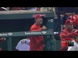 CIN@STL: Molina throws Suarez out on a heads-up play