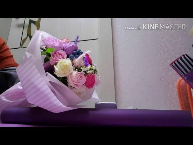 꽃다발 포장. 비누꽃 포장. 입학졸업꽃포장. ♡♡♡şeker buketi , candy bouquet, 糖果花束 chocolate bouquet