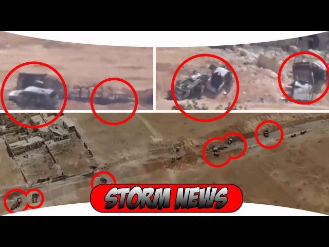 Сирия. Спецназ Тигры жёстко расфигачили колонну боевиков ан нусра в Алеппо