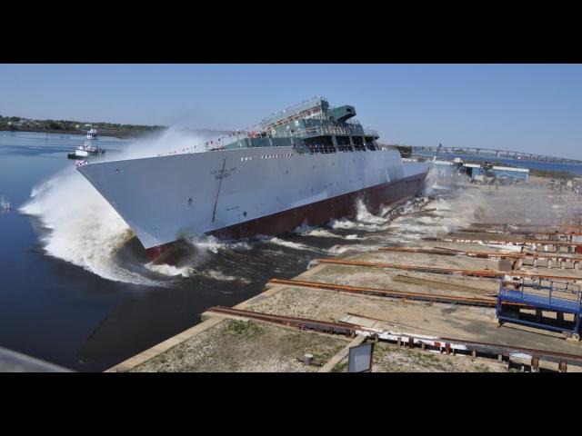 Самые зрелищные неуправляемые спуски кораблей на воду - часть 2