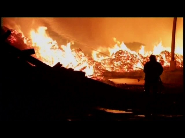 Пожар на Вихоревской машинной станции локализовали только утром